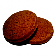 Pack of 2 chocolate sponge biscuits